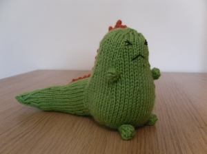 Grumpasaurus - that's me before a run that is. He was a pattern from Kat Crafts.