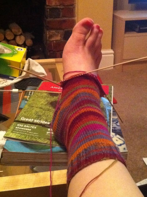 I took this photo months ago. It's still the same length now. I did turn the heel though!