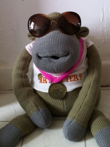 Medal monkey sends you his best wishes for a splendid Juneathon